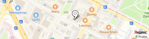 GA-DE на карте Усть-Каменогорска