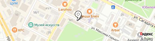 Усть-Каменогорские тепловые сети на карте Усть-Каменогорска