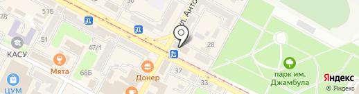 Интерьер на карте Усть-Каменогорска