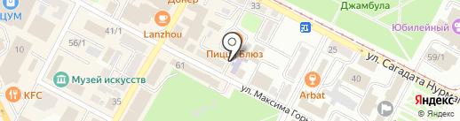 Центральная детская библиотека на карте Усть-Каменогорска