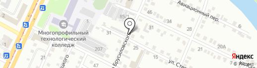 Динара на карте Усть-Каменогорска