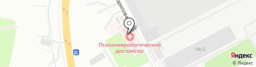 Восточно-Казахстанский областной психо-диспансер на карте Усть-Каменогорска