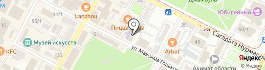 Солнце на карте Усть-Каменогорска