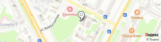 КАЗПОЧТА на карте Усть-Каменогорска