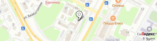 Деловой Усть-Каменогорск на карте Усть-Каменогорска