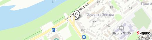 Софит на карте Усть-Каменогорска
