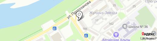 АвтоАЦ НАБ-Центр, ТОО на карте Усть-Каменогорска