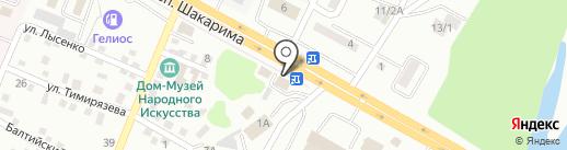 Лаки и краски на карте Усть-Каменогорска