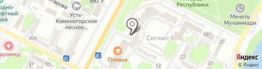 Нурбанк на карте Усть-Каменогорска