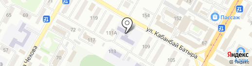 Детская музыкальная школа №1 на карте Усть-Каменогорска