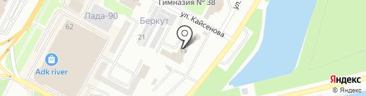 Департамент Комитета Национальной Безопасности по Восточно-Казахстанской области на карте Усть-Каменогорска