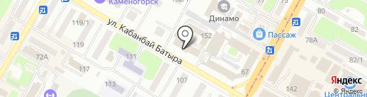 Подразделение по делам несовершеннолетних на карте Усть-Каменогорска