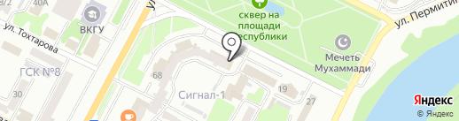 Казкоммерц-полис на карте Усть-Каменогорска