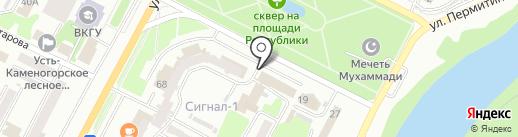 АMANAT на карте Усть-Каменогорска