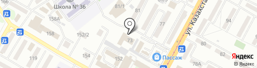 Динамо на карте Усть-Каменогорска