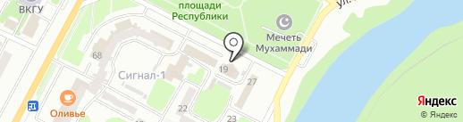 Банк ЦентрКредит на карте Усть-Каменогорска