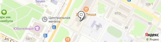 Стимул на карте Усть-Каменогорска