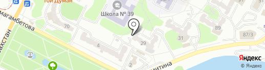 Отдел финансов г. Усть-Каменогорска на карте Усть-Каменогорска