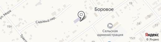 Белочка на карте Борового