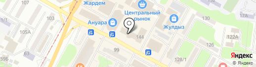 Салон мужской одежды на карте Усть-Каменогорска