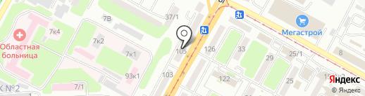 Fusion на карте Усть-Каменогорска