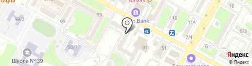 Нотариус Жанузакова Ж.С. на карте Усть-Каменогорска