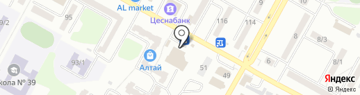 Ремонтная мастерская на карте Усть-Каменогорска