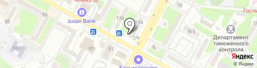 Цветочный магазин на карте Усть-Каменогорска