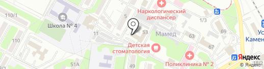 Городская поликлиника №2 на карте Усть-Каменогорска