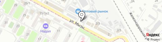 Той бастар на карте Усть-Каменогорска