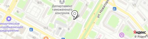 Участковый пункт полиции №4 на карте Усть-Каменогорска