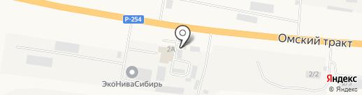 Обь на карте Оби