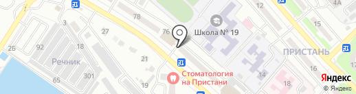 Жазира на карте Усть-Каменогорска