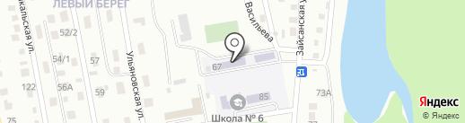 Восточно-Казахстанская областная специализированная школа-интернат на карте Усть-Каменогорска