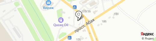 Кизатов-строй на карте Усть-Каменогорска