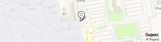 Аэропорт Толмачево на карте Оби