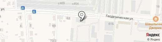Новосибирскавтодор на карте Оби