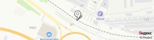 На кольце на карте Оби