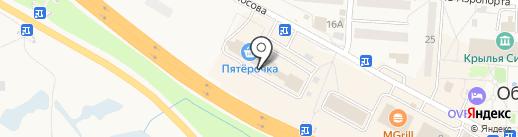 Анастасия на карте Оби