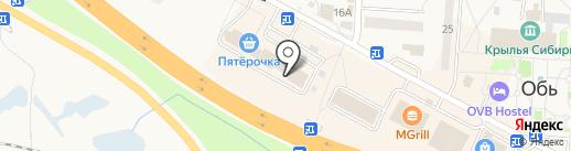 Зелёный луг на карте Оби