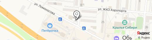 Сотовая мастерская на карте Оби