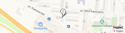 Кокетка на карте Оби