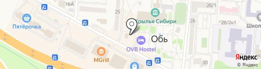 Николь на карте Оби