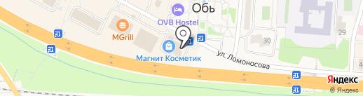 Дом одежды и обуви на карте Оби
