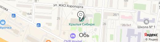 Крылья Сибири на карте Оби