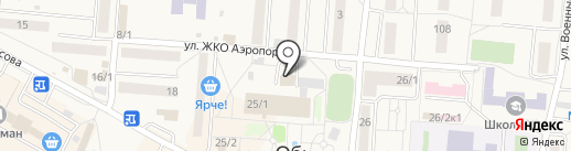 Альфа-М на карте Оби