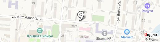 Киоск по продаже хлебобулочных изделий на карте Оби