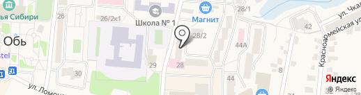 Поликлиника №2 на карте Оби