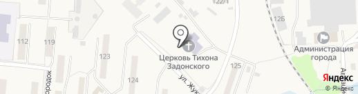 Храм во имя святителя Тихона Задонского на карте Оби