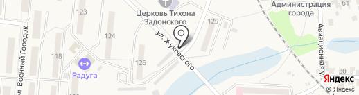 Часовня в честь преподобного Сергия Радонежского на карте Оби